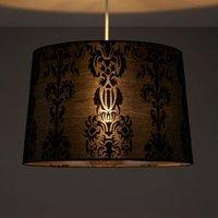Colours Cerys Black Damask Light Shade (D)137mm