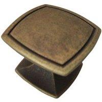 B&Q Bronze Effect Square Furniture Knob  Pack of 1