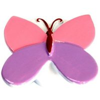 B&Q Multicolour Butterfly Furniture Knob  Pack of 1