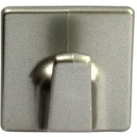 B&Q Silver Effect ABS Robe Hook  Pack of 2