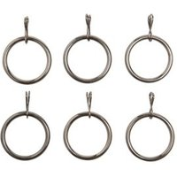 Colours Nickel Effect Metal Curtain Ring (Dia)19mm  Pack of 6