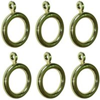 Colours Plastic Curtain Ring (Dia)19mm  Pack of 6
