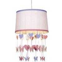 Colours Elara Powder Pink Butterfly Light Shade (D)30.5cm.