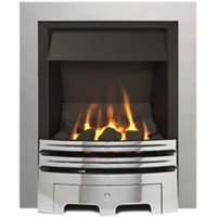 Ignite Westerly Open Fronted Chrome effect Gas Fire