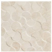 Crescent White Ceramic Wall Tile  Pack of 25  (L)200mm (W)200mm