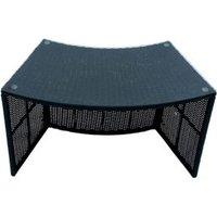 Rattan Spa bar table