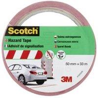 Scotch Red & white Tape (L)33m (W)50mm