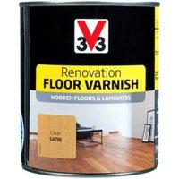 V33 Renovation Clear Satin Floor Varnish 750ml