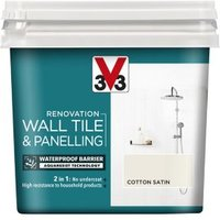 V33 Renovation Cotton Satin Wall tile and panelling paint  0.75L