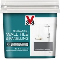 V33 Renovation Anthracite Satin Wall tile and panelling paint  0.75L