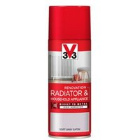 V33 Renovation Soft grey Satin Radiator & appliance spray paint 400 ml