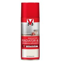 V33 Renovation Cotton Satin Radiator & appliance spray paint 400 ml