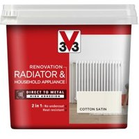 V33 Renovation Cotton Satin Radiator & appliance paint 750ml