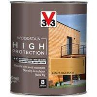 V33 High protection Light oak Matt Wood stain 750ml