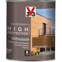 V33 High protection Dark oak Matt Wood stain 750ml