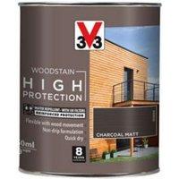 V33 High protection Charcoal Matt Wood stain 750ml