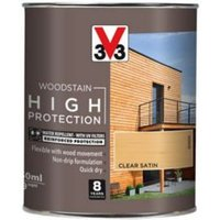 V33 High protection Clear Mid sheen Wood stain 750ml