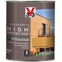 V33 High protection Light oak Mid sheen Wood stain 750ml