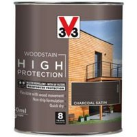 V33 High protection Charcoal Mid sheen Wood stain 750ml