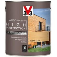 V33 High protection Clear Mid sheen Wood stain 2.5