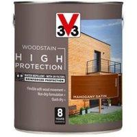 V33 High protection Mahogany Mid sheen Wood stain 2.5