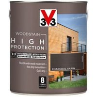 V33 High protection Charcoal Mid sheen Wood stain 2.5