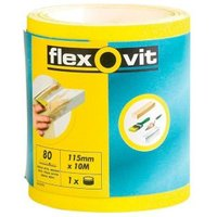 Flexovit 80 Grit Abrasive Roll (L)50000mm (W)115mm
