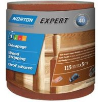 Norton Expert 40 Grit Sandpaper Roll (L)5m (W)115mm