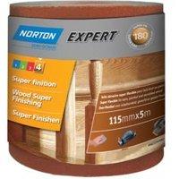 Norton Expert 180 Grit Sandpaper Roll (L)5m (W)115mm