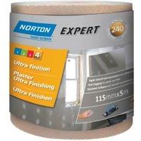 Norton Expert 240 Grit Sandpaper roll (L)5000mm (W)115mm