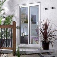 5ft White PVCu Unglazed Patio Door Frame