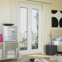 6ft Clear Glazed PVCu External French Door Set  (H)2055mm (W)1790mm
