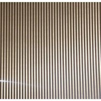 FFA Concept Silver effect Anodised Aluminium Corrugated Sheet  (H)1000mm (W)500mm (T)1mm