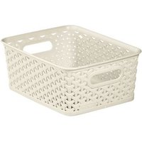 My style White 8L Plastic Nestable Storage basket