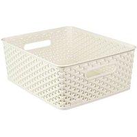 My style White 13L Plastic Nestable Storage basket