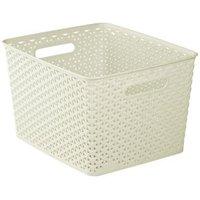 My style White 18L Plastic Nestable Storage basket
