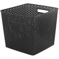 My Style Brown Weave 25L Plastic Storage basket