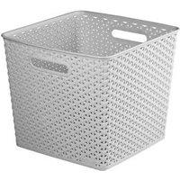 My style Grey 25L Plastic Nestable Storage basket