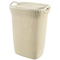 Knit collection White 57L Plastic Storage basket
