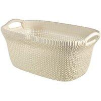 Knit collection Oasis white 40L Plastic Storage basket