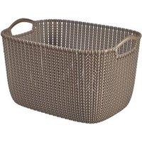 Knit collection Harvest brown 19L Plastic Storage basket