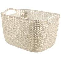 Knit collection Oasis white 19L Plastic Storage basket