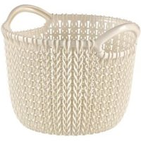 Knit collection Oasis white 3L Plastic Storage basket