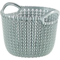 Knit collection Misty blue 3L Plastic Storage basket