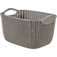 Knit collection Harvest brown 8L Plastic Storage basket