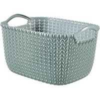 Knit collection Misty blue 8L Plastic Storage basket