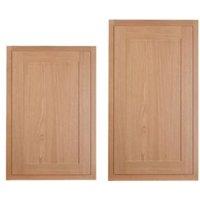 Cooke & Lewis Carisbrooke Oak Framed Tall Larder Door (W)600mm  Set of 2