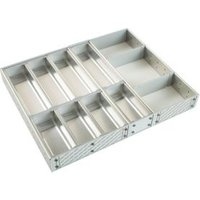 Cooke & Lewis Stainless Steel Effect Kitchen Utensil Tray