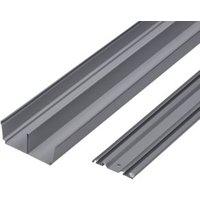 Valla Sliding wardrobe door track (L)1800mm