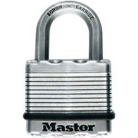 Master Lock Excell Stainless Steel Double Ball Bearing Locking Octagonal Open Shackle Padlock (W)50mm